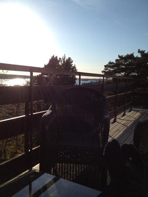 Skräpliv på balkongen